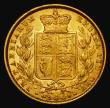 London Coins : A171 : Lot 1890 : Sovereign 1872 Shield Reverse, No Die Number, Marsh 47, S.3853B Good Fine/NVF