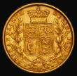 London Coins : A171 : Lot 1892 : Sovereign 1872 Shield Reverse, No Die Number, Marsh 47, S.3853B NVF/VF