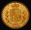 London Coins : A171 : Lot 1894 : Sovereign 1873 Shield Reverse, Marsh 57, Die Number 14, GVF
