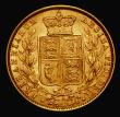 London Coins : A171 : Lot 1898 : Sovereign 1875S Shield Reverse Marsh 72, VF/EF the reverse lustrous