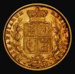 London Coins : A171 : Lot 1904 : Sovereign 1877S Shield Reverse Marsh 73 NVF/VF