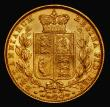 London Coins : A171 : Lot 1927 : Sovereign 1883M Shield Reverse, S.3854A, Marsh 64, AU/UNC and lustrous, a very attractive example wi...