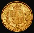 London Coins : A171 : Lot 1946 : Sovereign 1885S Shield Reverse, Marsh 81, NEF/EF the reverse with some lustre