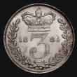 London Coins : A171 : Lot 2271 : Threepence 1884 ESC 2091, Bull 3426 UNC/AU the reverse with a small striking flaw