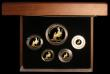 London Coins : A171 : Lot 256 : Britannia Gold Proof Set 2013 the Five coin set comprising £100, £50, £25, £...