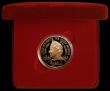 London Coins : A171 : Lot 286 : Five Pound Crown 2002 Queen Mother Memorial Gold Proof FDC cased as issued with certificate