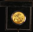 London Coins : A171 : Lot 296 : Five Pounds Gold 1991U S.SE4 BU in the green Royal Mint box of issue with certificate
