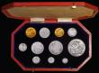 London Coins : A171 : Lot 332 : Proof Set 1902 (11 coins) Sovereign, Half Sovereign, Crown, Halfcrown, Florin, Shilling, Sixpence an...