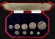 London Coins : A171 : Lot 335 : Proof Set 1902 a part set (9 coins) comprising Crown, Halfcrown, Florin, Shilling, Sixpence, and Mau...