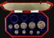 London Coins : A171 : Lot 336 : Proof Set 1902 a part set (9 coins) comprising Crown, Halfcrown, Florin, Shilling, Sixpence, and Mau...