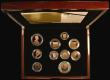 London Coins : A171 : Lot 359 : Proof Set 2012 The United Kingdom Diamond Jubilee Gold Proof Coin Set, 10-coin set with all coins in...