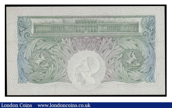 One Pound Mahon B212 issued 1928 series  A85 987227 Ex Spink sale 18049 Lot 2737 Good EF scuff mark right edge : English Banknotes : Auction 171 : Lot 37