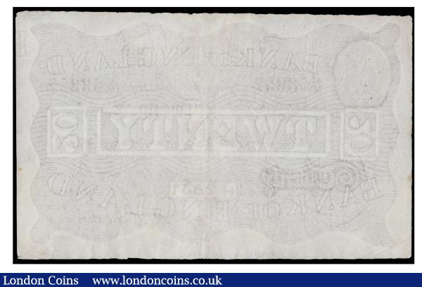 Twenty Pounds Catterns white B230 dated 15 August 1933 series 47/M 58857 VF Ex Spink Lou Manzi sale 19031 Lot 2380 realised £1,300 hammer price : English Banknotes : Auction 171 : Lot 41