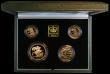 London Coins : A171 : Lot 427 : United Kingdom 2001 Gold Proof Four Coin Sovereign Collection, Gold Five Pounds, Two Pounds Marconi,...