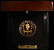 London Coins : A171 : Lot 432 : Alderney Five Pounds 2006 Queen Elizabeth II 80th Birthday Gold Proof KM#133b diamond embedded in th...