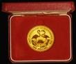 London Coins : A171 : Lot 447 : Bahamas 100 Dollars 1974 Gold Proof toned nFDC cased with certificate