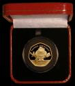London Coins : A171 : Lot 465 : Gibraltar Fifty Pence 2019 Father Christmas Gold Proof Piedfort FDC in the red Pobjoy Mint box of is...