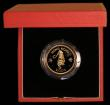 London Coins : A171 : Lot 482 : Hong Kong $1000 Gold 1986 Year of the Tiger KM#54 Gold Proof FDC in the red box of issue with certif...