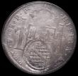 London Coins : A171 : Lot 549 : Brazil 960 Reis - Minas Gerais countermarked issue on Bolivia 8 Reales Charles IIII  host 1799 PTS P...