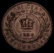 London Coins : A171 : Lot 553 : Canada - Newfoundland One Cent 1880 Narrow or Oval 0 in date KM#1 (see illustrations in Charlton, pa...