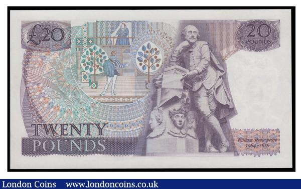 Twenty pounds Page B329 issued 1970, replacement series M02 590827 UNC, a scarce short run : English Banknotes : Auction 171 : Lot 61