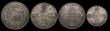 London Coins : A171 : Lot 766 : Crown 1847 Young Head About Fine, Double Florins (2) 1887 Roman 1 NVF the obverse with some surface ...