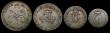 London Coins : A171 : Lot 880 : Maundy Set 1680 ESC 2376, Bull 603, comprising Fourpence 1680 ESC 1852, Bull 632 GVF with old pastel...