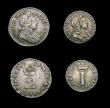 London Coins : A171 : Lot 885 : Maundy Set 1701 ESC 2392, Bull 1308 comprising Fourpence VG, Threepence VF/NVF, Twopence NVF/GF, Pen...