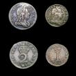 London Coins : A171 : Lot 887 : Maundy Set 1727 ESC 2401, Bull 1618 comprising Fourpence NVF/Fine, toned with some adjustment lines,...