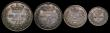 London Coins : A171 : Lot 895 : Maundy Set 1869 ESC 2481, Bull 3521 EF to UNC with matching tone, the Threepences with some edge nic...
