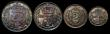 London Coins : A171 : Lot 905 : Maundy Set 1910 ESC 2526, Bull 3616 Fourpence, Threepence and Penny UNC, the Twopence About UNC with...