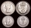 London Coins : A171 : Lot 908 : Maundy Set 1971 ESC 2588, S.4211 UNC, the Fourpence with the lightest of contact marks, retaining pr...