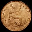 London Coins : A172 : Lot 1078 : Halfpenny 1877 Freeman 332 dies 14+J Lustrous UNC in an LCGS holder and graded 85