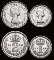 London Coins : A172 : Lot 1110 : Maundy Set 1953 ESC 2570, Bull 4559 Lustrous UNC with very light toning, the Threepence with a tiny ...