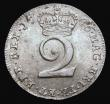 London Coins : A172 : Lot 1113 : Maundy Twopence 1746 ESC 2234, Bull 1813 Lustrous UNC with a hint of toning, excellent surfaces comp...