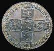 London Coins : A172 : Lot 1200 : Shilling 1758 ESC 1213, Bull 1734, UNC with old grey toning, in an LCGS holder and graded LCGS 80, t...