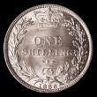 London Coins : A172 : Lot 1226 : Shilling 1886 ESC 1347, Bull 3078, Choice UNC and lustrous, the obverse with a hint of toning, in an...