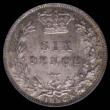 London Coins : A172 : Lot 1285 : Sixpence 1886 ESC 1748, Bull 3260, a choice example lustrous and with some original mint bloom, toni...