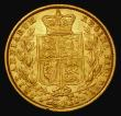 London Coins : A172 : Lot 1327 : Sovereign 1853 WW incuse, Marsh 36, S.3852D Good Fine/NVF with an edge nick