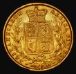 London Coins : A172 : Lot 1330 : Sovereign 1857 Marsh 40, S.3852D About VF/VF with a gentle edge bruise