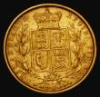 London Coins : A172 : Lot 1337 : Sovereign 1863 Marsh 48, S.3853, Die Number 5 Fine/Good Fine the reverse with small spots behind the...
