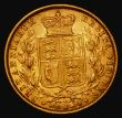 London Coins : A172 : Lot 1345 : Sovereign 1871 Shield Reverse, Marsh 55, S.3853B Die Number 12 Good Fine/NVF