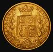London Coins : A172 : Lot 1348 : Sovereign 1871S Shield Reverse, Marsh 69, S.3855, Fine/Good Fine