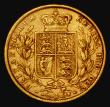London Coins : A172 : Lot 1349 : Sovereign 1872 Shield Reverse, No Die Number, Marsh 47, S.3853B Fine