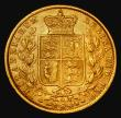 London Coins : A172 : Lot 1351 : Sovereign 1872M Shield Reverse, Marsh 59, S.3854 Good Fine/NVF