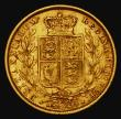 London Coins : A172 : Lot 1368 : Sovereign 1882S Shield Reverse, Marsh 78, S.3855B, Good Fine with some light thin scratches near the...