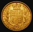 London Coins : A172 : Lot 1373 : Sovereign 1884S Shield Reverse Marsh 80, S.3855B, VF/GVF