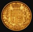 London Coins : A172 : Lot 1374 : Sovereign 1885M Shield Reverse, Marsh 66, S.3854A, GF/NVF