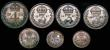 London Coins : A172 : Lot 1582 : Maundy Odds (4) Fourpence 1901 EF toned, Twopence 1859 BEITANNIAR EF/GEF toned, Pennies (2) 1855 Abo...