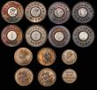 London Coins : A172 : Lot 1584 : Model Coinage (15) includes Joseph Moore types (12) Pennies (3) Copper with Nickel-Zinc centre (2) G...